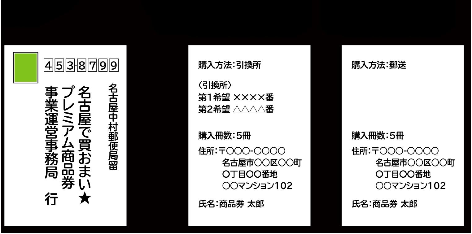 【表面】 【裏面】◇引換所で購入する場合 ◇郵送で引換する場合